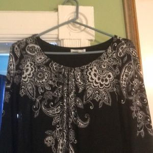 A black and white dress, size 10